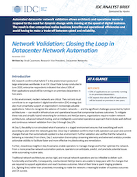 IDC Analyst Brief Network Validation Closing the loop in Datacenter Network Automation thumbnail